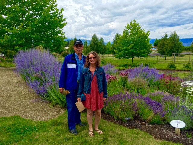 Couple posing while on the Lavender Farm Tour
