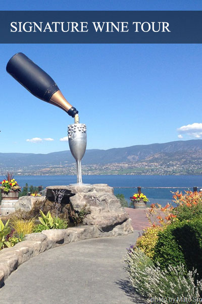 The floating bottle at the Summerhill Pyramid Winery in Kelowna